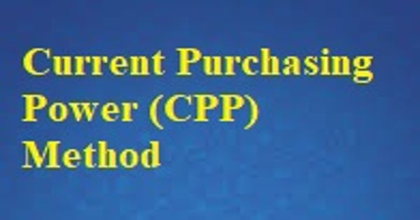 Current Purchasing Power (CPP) Method