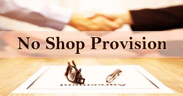 No Shop Provision