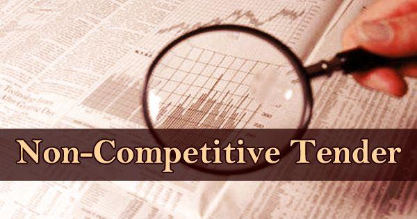 Non-Competitive Tender