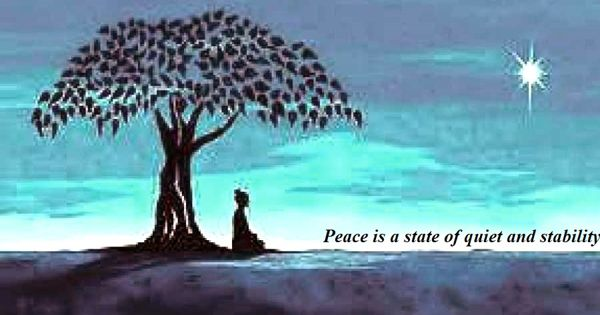 Peace is a state of quiet and stability – an open Speech