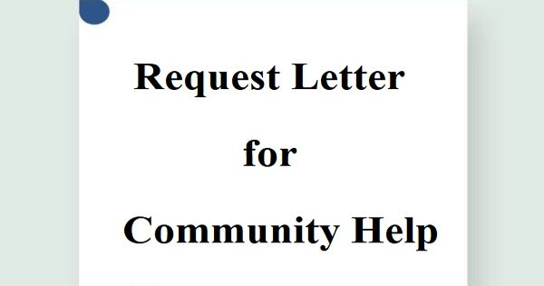 Request Letter format for Community Help