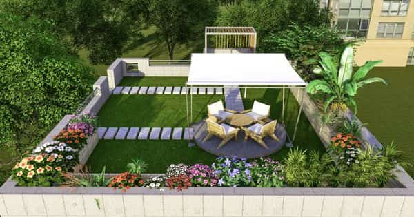 Roof Garden – a garden on the roof of a building
