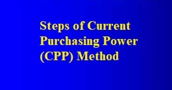 Steps of Current Purchasing Power (CPP) Method