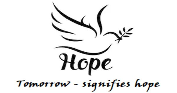 Tomorrow – signifies hope