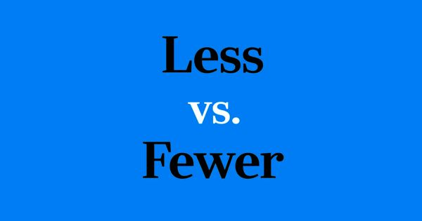 Difference Between Less and Fewer