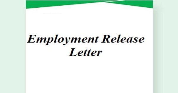 Employment Release Letter Format