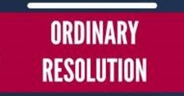 Ordinary Resolution