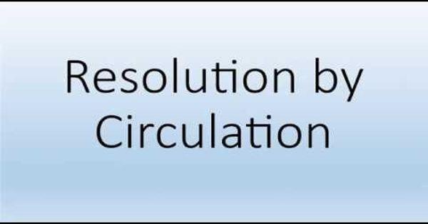 Resolution by Circulation