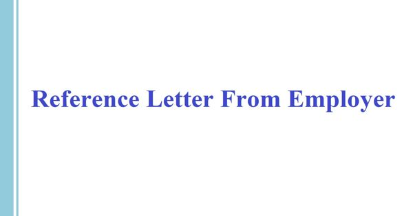 Reference Letter From Employer