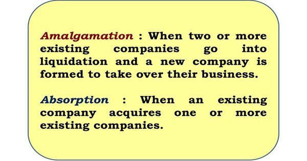 Dissimilarity between Amalgamation and Absorption