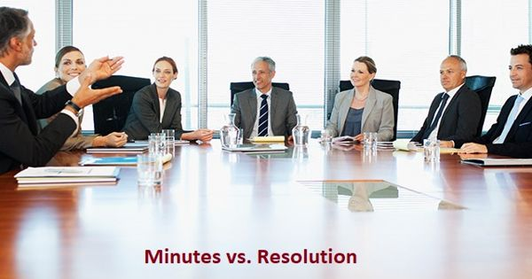 Difference between Minutes and Resolution