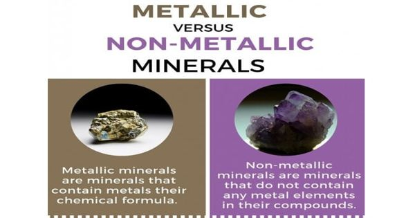 Difference between Metallic and Non-metallic Minerals