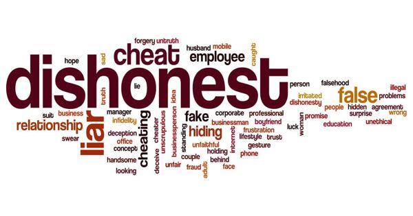Dishonesty – an Open Speech