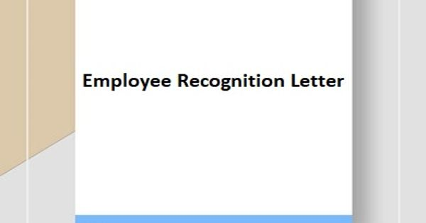 Sample Employee Recognition Letter Format