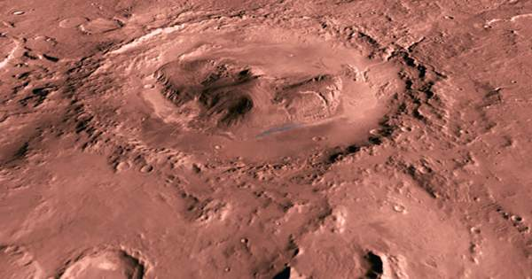 "Frosty Changes on Mars's ""Happy Face Crater"" Has Made Its Grin Even Bigger"