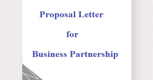 Proposal Letter for Business Partnership