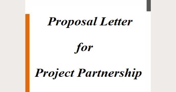 Proposal Letter for Project Partnership