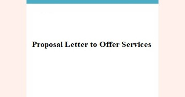 Proposal Letter to Offer Services