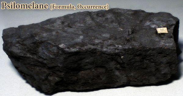 Psilomelane (Formula, Occurrence)