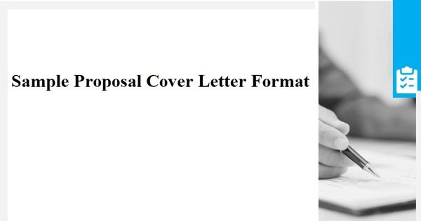 Sample Proposal Cover Letter Format