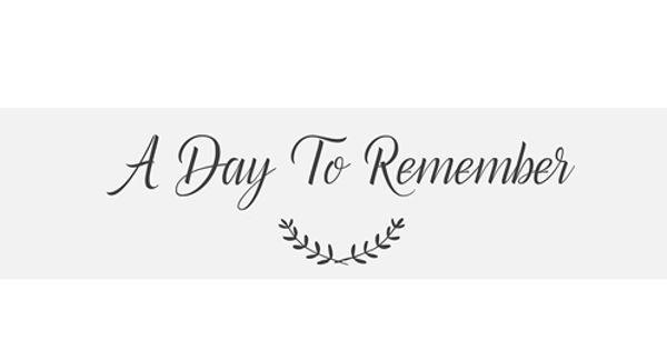 A day to remember – an Open Speech
