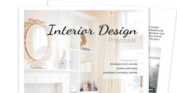 Sample Interior Design Proposal Letter Format