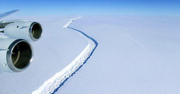 Satellite Images Reveal Close-Up Details Of Crack That Led To Mega-Iceberg In Antarctica