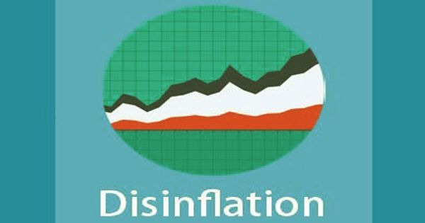 Disinflation – a decrease in the rate of inflation