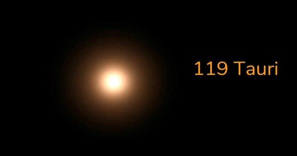 119 Tauri – a red supergiant star in the constellation Taurus