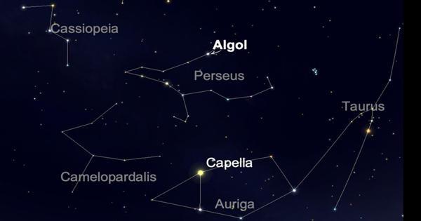 Algol – a bright star in the Perseus constellation