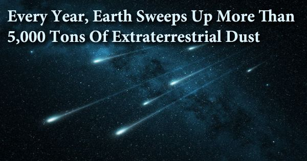 Every Year, Earth Sweeps Up More Than 5,000 Tons Of Extraterrestrial Dust