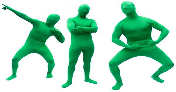 Man Wears Greenman Suit To Become Invisible On Fiancée's Zoom Meetings. It Does Not Go Well