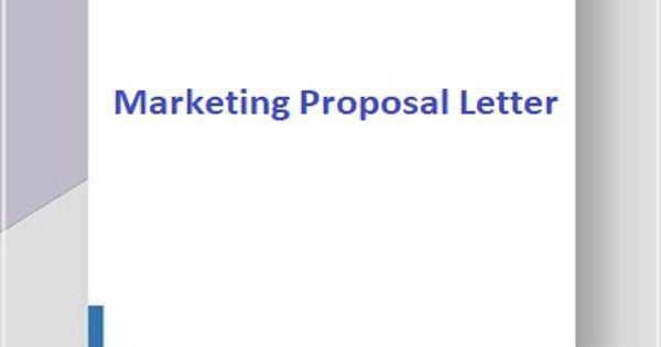 Sample Marketing Proposal Letter Format