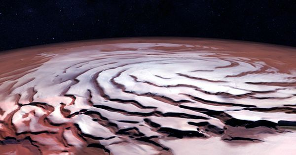 Peculiar Icy Clouds May Have Kept Early Mars Warm Enough For Flowing Rivers