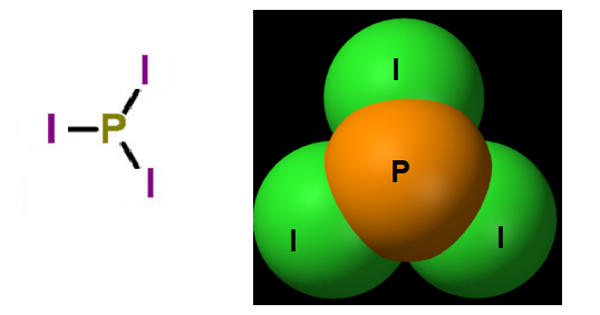 Phosphorus triiodide – a red solid unstable chemical inorganic compound