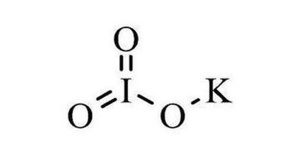 Potassium iodate – an ionic chemical compound