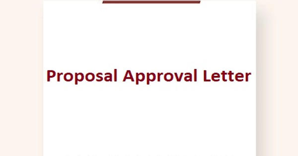 Sample Proposal Approval Letter