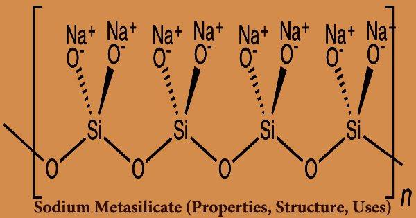 Sodium Metasilicate (Properties, Structure, Uses)