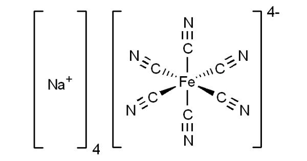 Sodium ferrocyanide – an odorless yellow solid