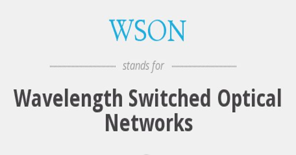 Wavelength switched optical network