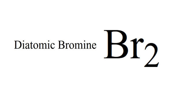Diatomic Bromine – a red-brown liquid
