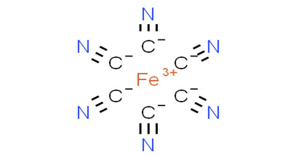 Ferricyanide – a red crystalline material