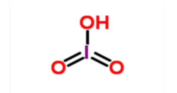 Iodic acid – a white water-soluble solid