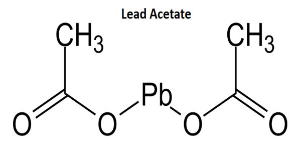 Lead acetate – a white crystalline compound of lead