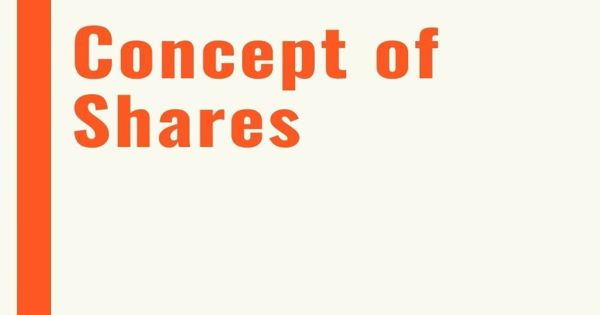 Concept of Share