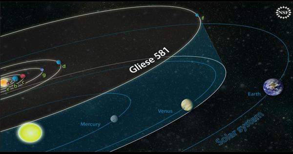 Gliese 581 – an M-class red dwarf star