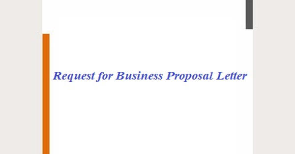 Request for Business Proposal Letter