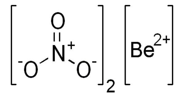Beryllium Nitrate – an Ionic Beryllium Salt of Nitric Acid