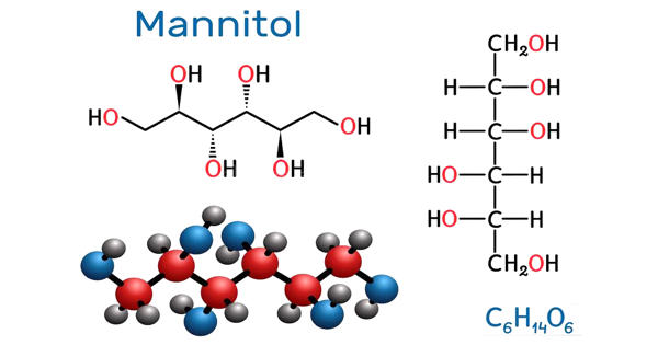 Mannitol – a type of sugar alcohol used as a sweetener and medication