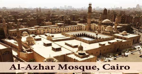 A visit to a historical place/building (Al-Azhar Mosque, Cairo)